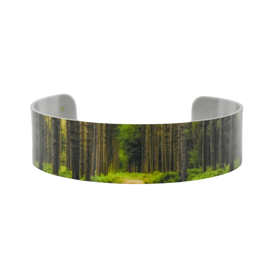 Peaceful Forest Narrow Cuff Bracelet - Wear the Wonder