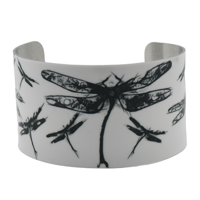 Wild Dragonfly Wide Cuff Bracelet - Wear the Wonder