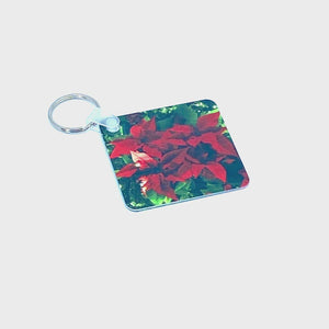 Spinning product video of Poinsettia Keychain | Wear the Wonder