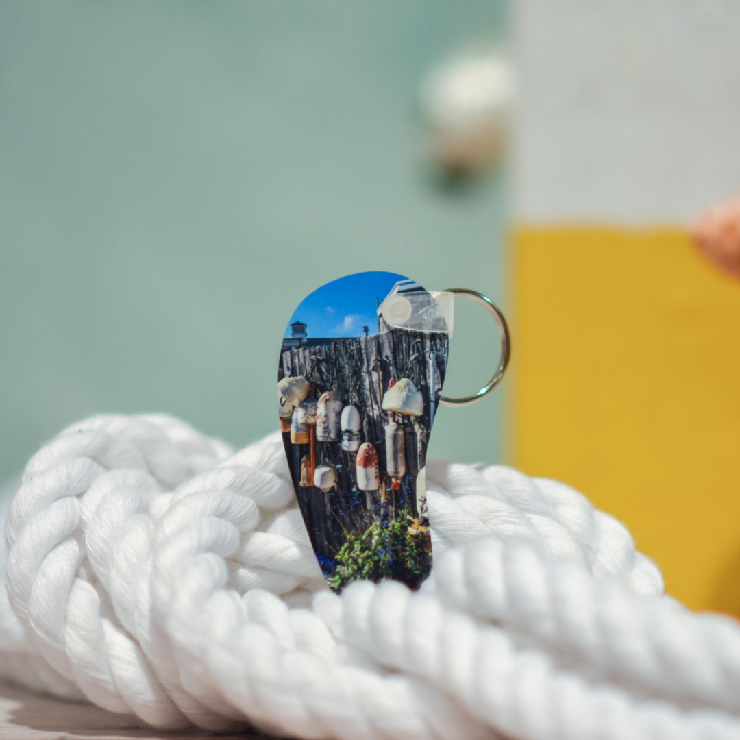 Lifestyle view of Woods Hole Buoys Keychain | Wear the Wonder