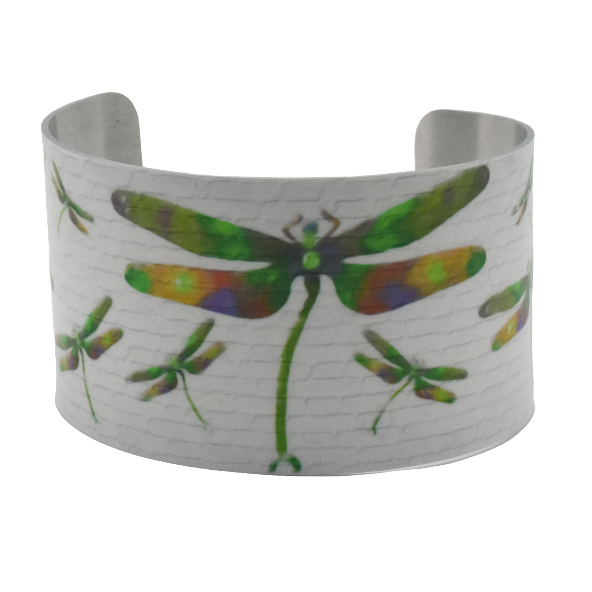 Emerald Dragonfly Wide Cuff Bracelet - Wear the Wonder