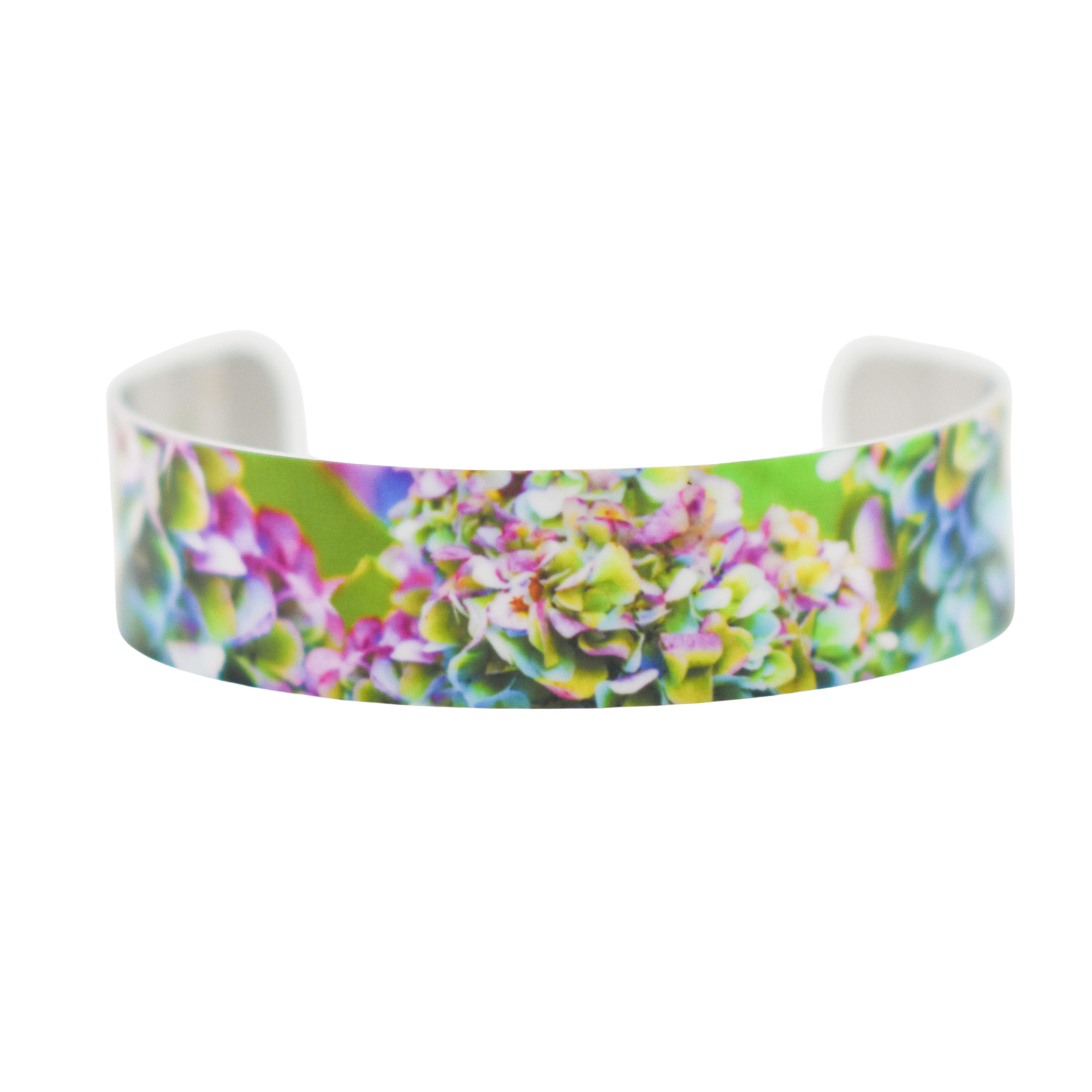 Standard view of Heavenly Hydrangea Narrow Cuff Bracelet | Wear the Wonder