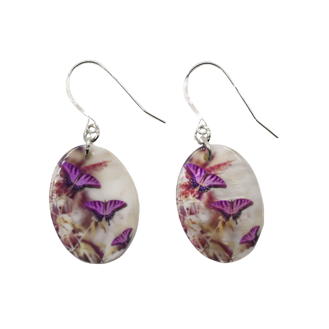 Lavender Butterfly Earrings | Wear the Wonder