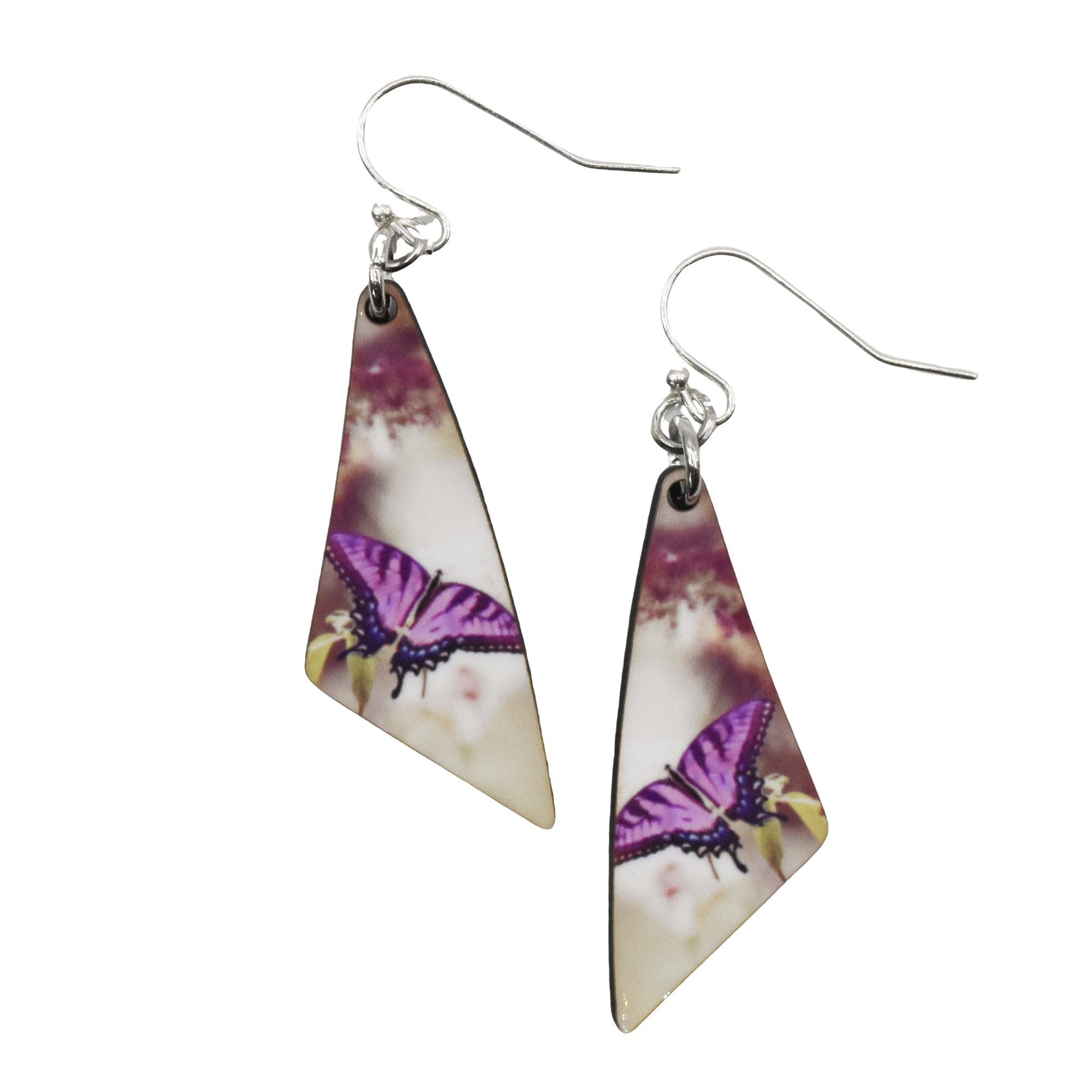 Purple Butterfly Triangle Earring - Wear the Wonder