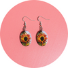 View 2 of Autumn Sunflower Earrings | Wear the Wonder