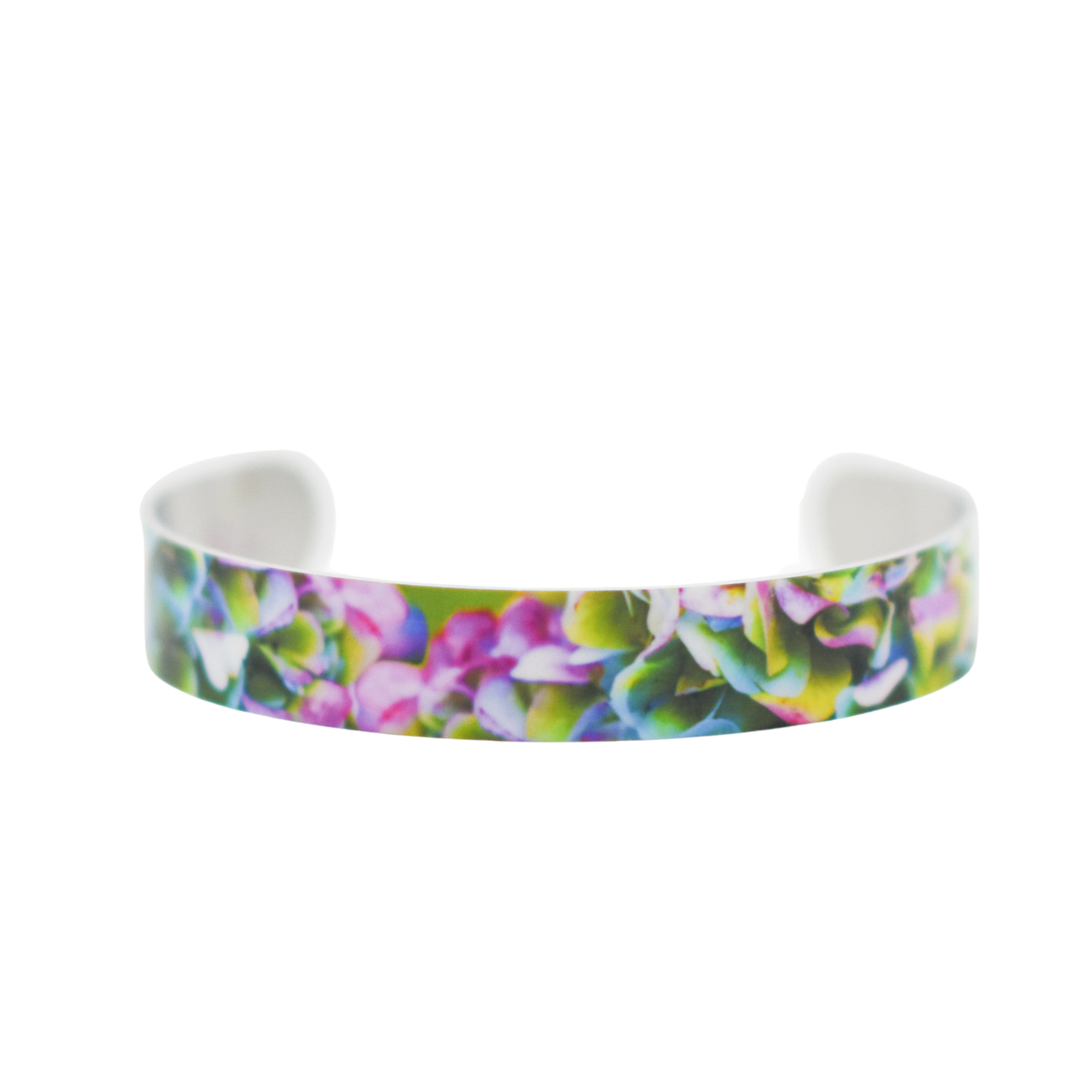 Standard view of Heavenly Hydrangea Super Narrow Cuff Bracelet | Wear the Wonder
