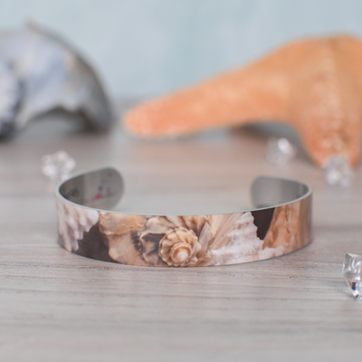 Product Photo of Conch Shell Super Narrow Cuff Bracelet | Wear the Wonder