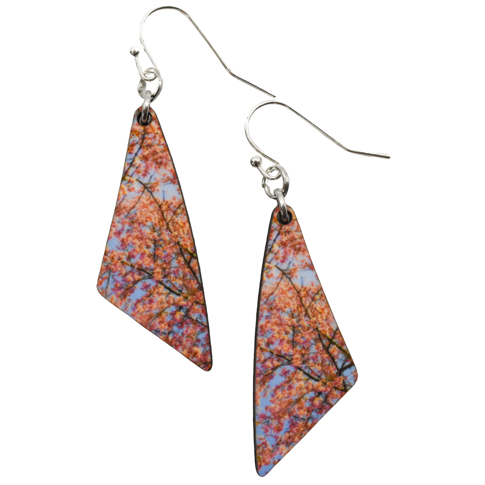 Cheerful Sakura Triangle Earring - Wear the Wonder