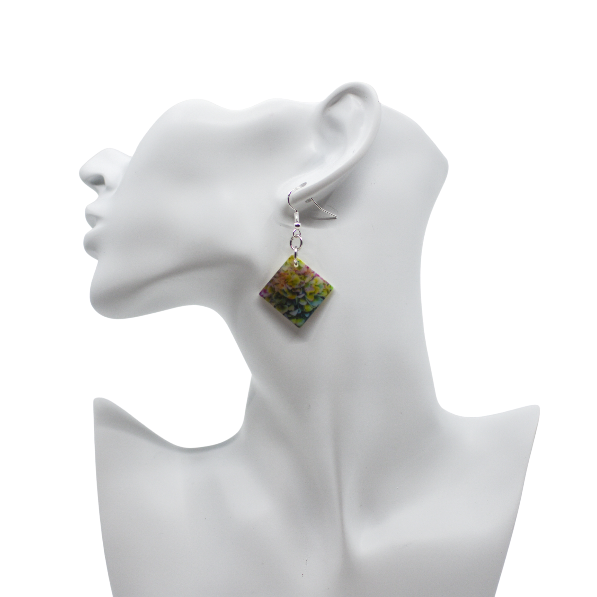 Standard view of Heavenly Hydrangea Mother of Pearl Earrings | Wear the Wonder