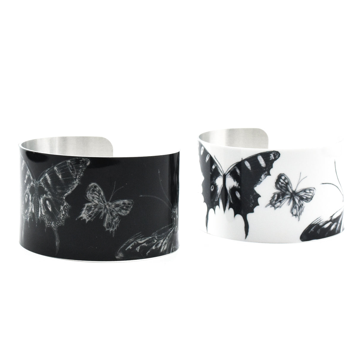 Side view of Expressive Papillon cuff bracelets | Wear the Wonder
