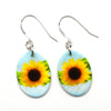 Standard View Bright Sunflower Mother of Pearl Earrings | Wear the Wonder