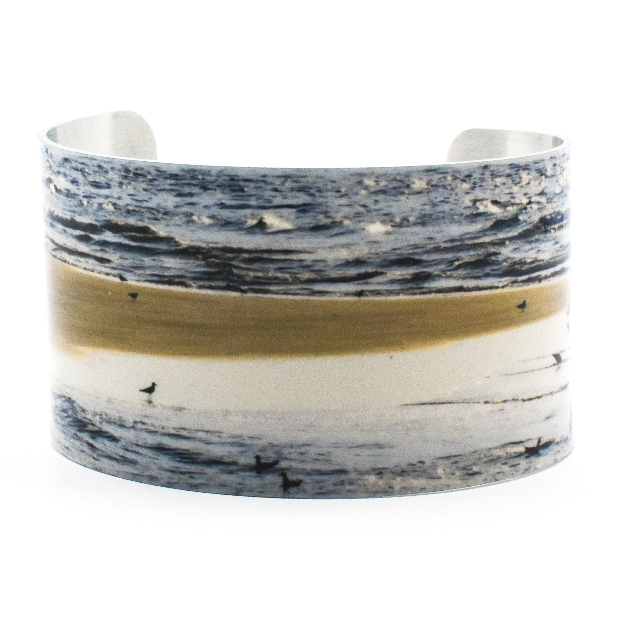 Standard view of Morning Gathering Wide Cuff Beach Bracelet | Wear the Wonder