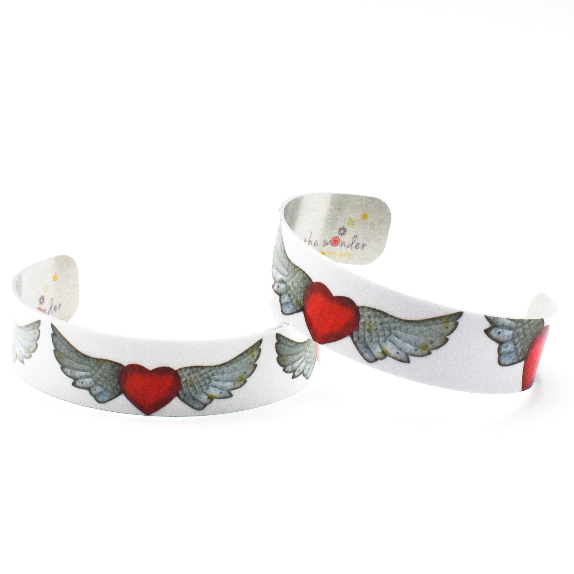 Standard view of both Angel Wings Bracelets | Wear the Wonder