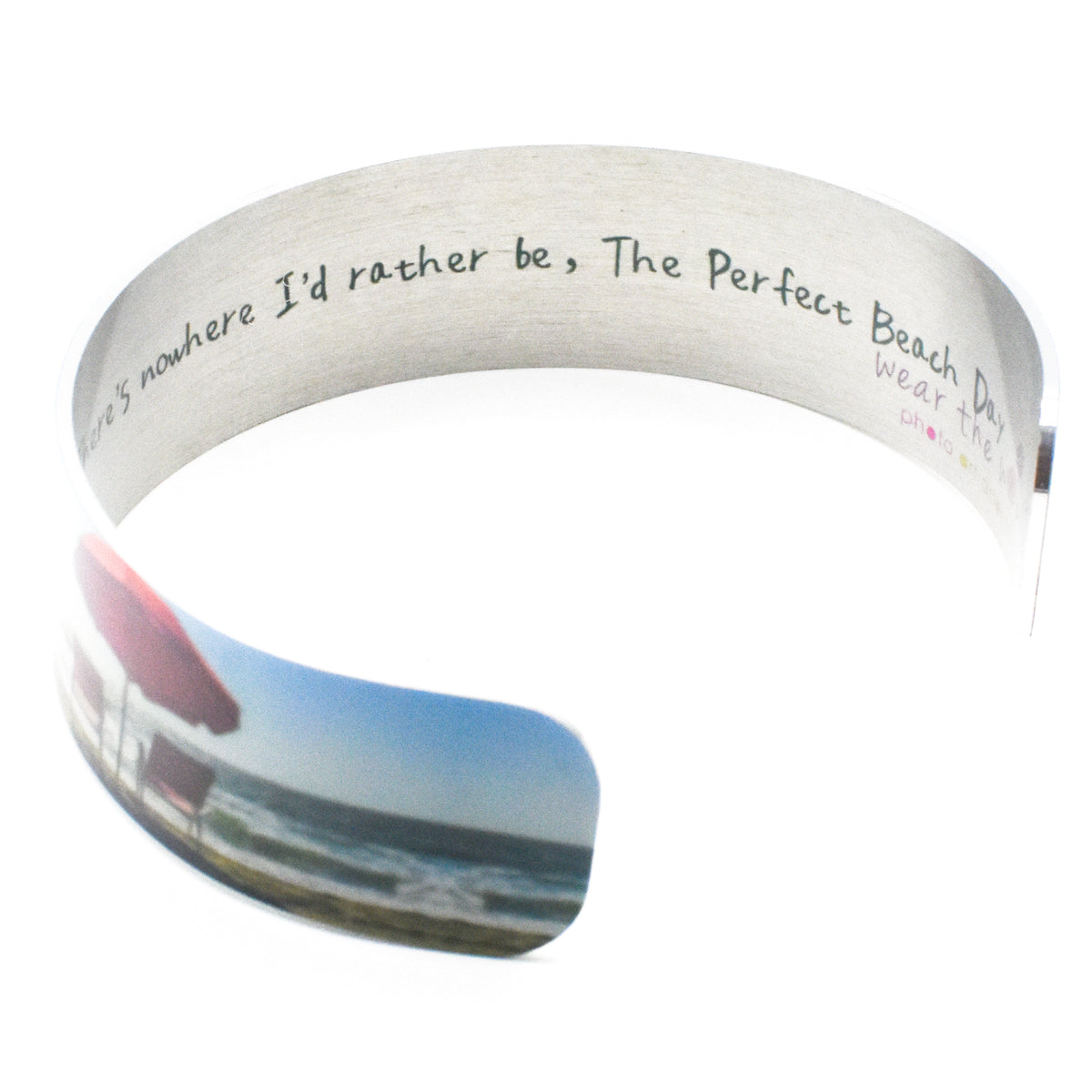 Beach Day Narrow Cuff Bracelet