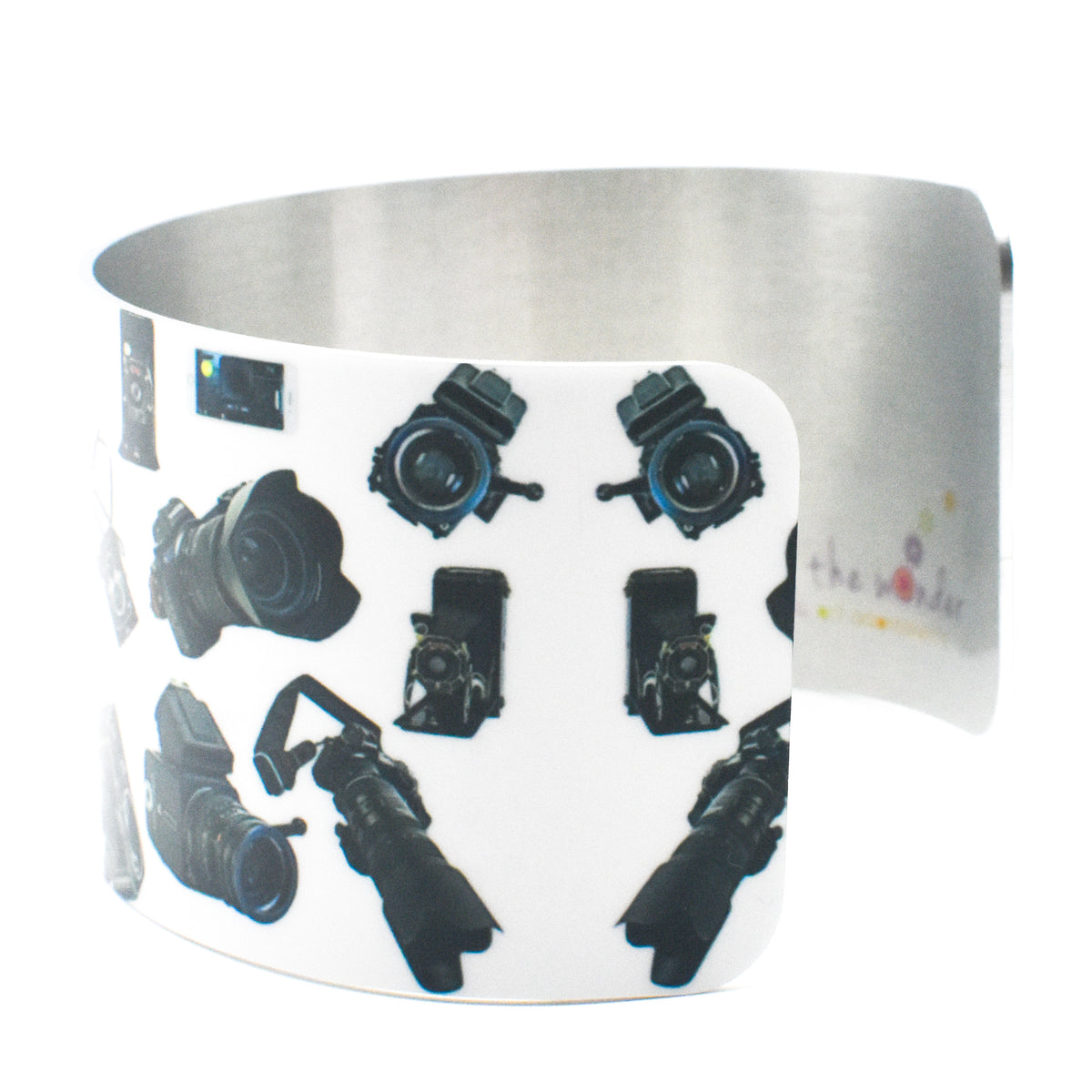 Side view 3 of Camera Girl Wide Cuff Bracelet | Wear the Wonder