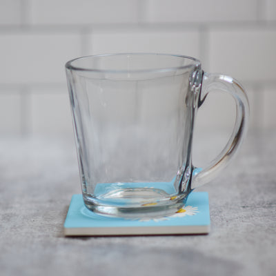 Daisy coaster with coffee cup | Wear the Wonder