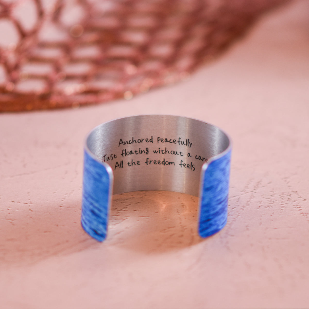 Inside haiku view of On the Water Cuff Bracelet | Wear the Wonder