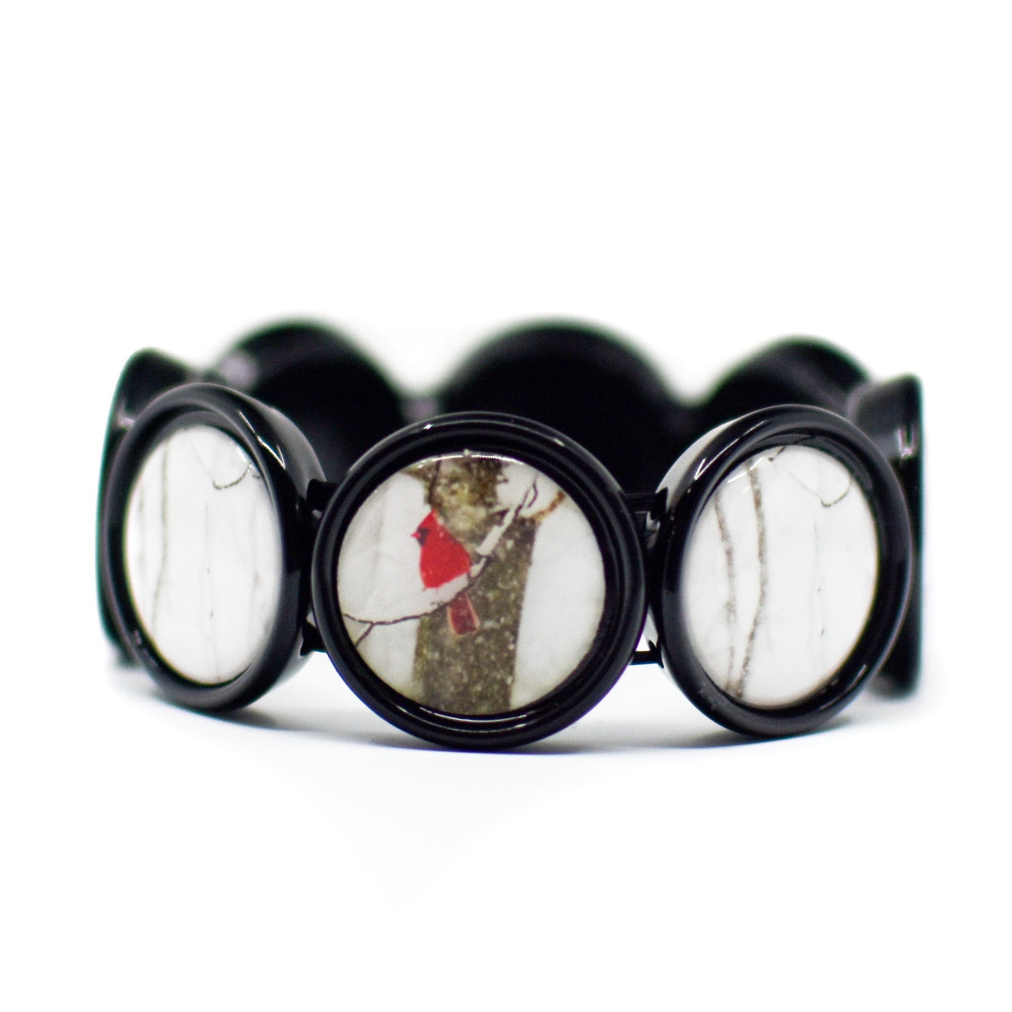 Front view of Angels Near Cardinal Stretch Bracelet | Wear the Wonder