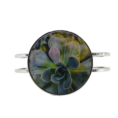 Enchanted Succulent Statement Bracelet
