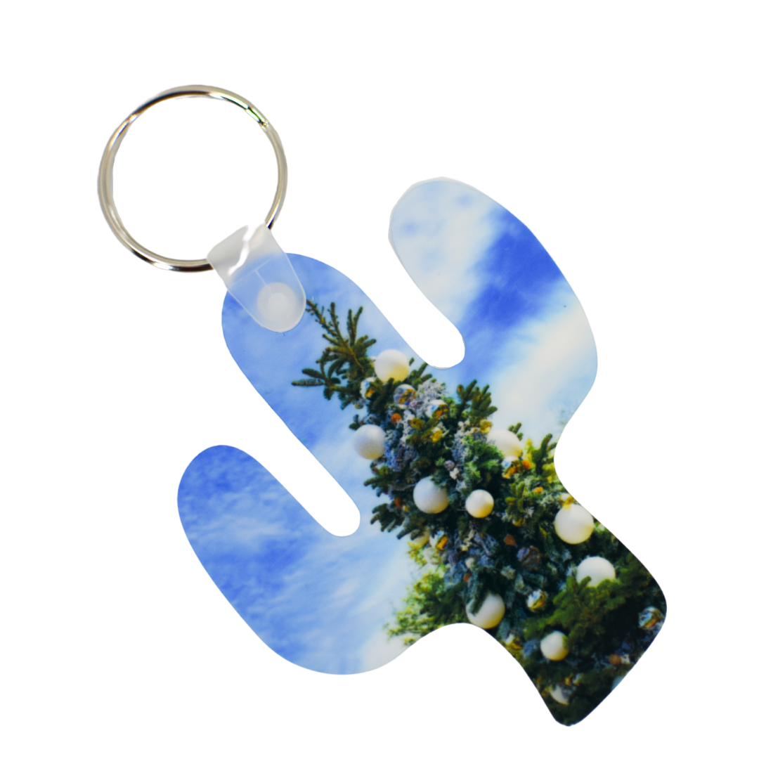 Desert Christmas Cactus Keychain | Wear the Wonder