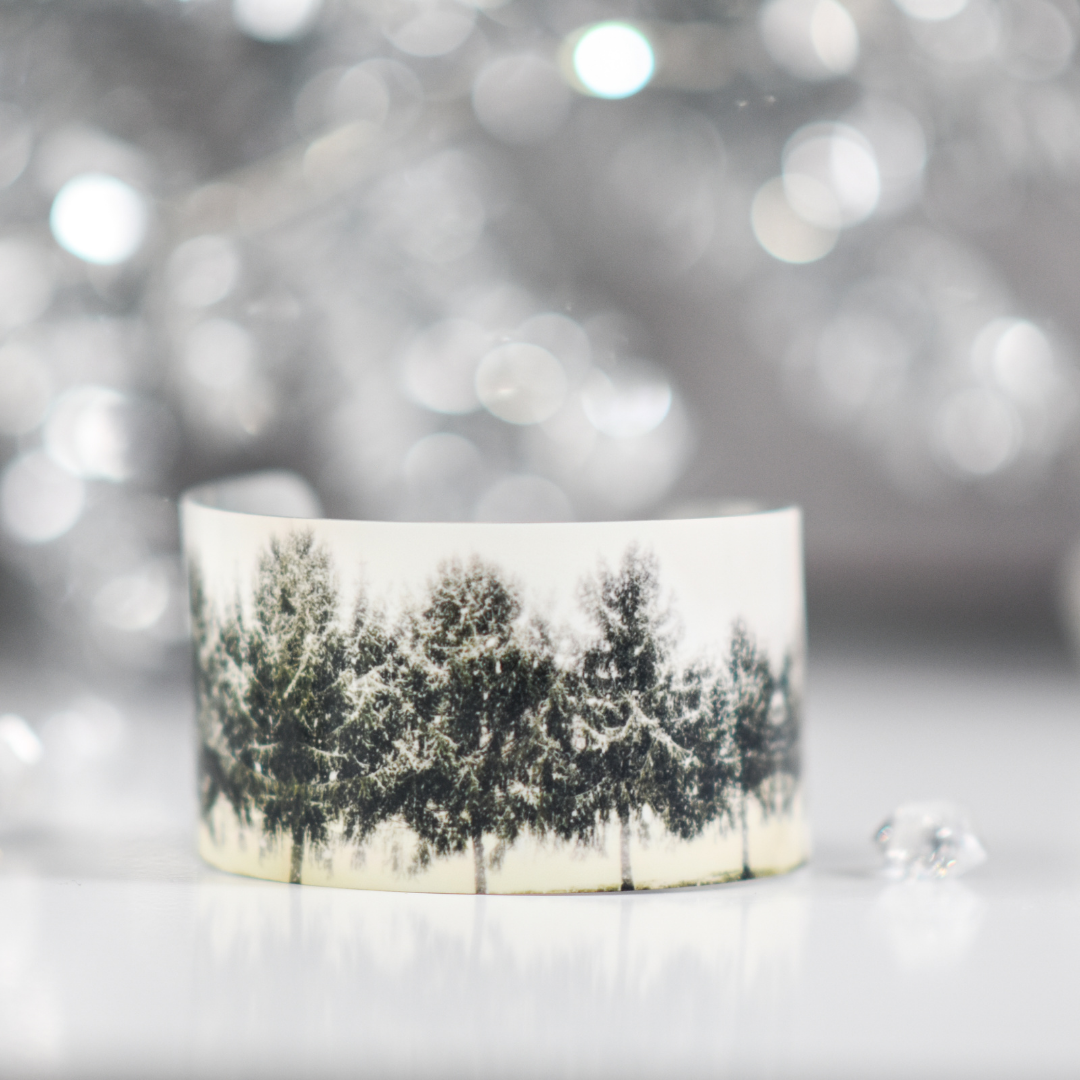 Front view of Winter Morning Wide Cuff Bracelet | Wear the Wonder