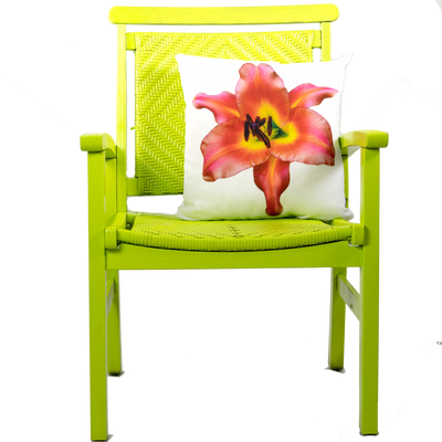 Lily Pillow on Green Chair | Wear the Wonder