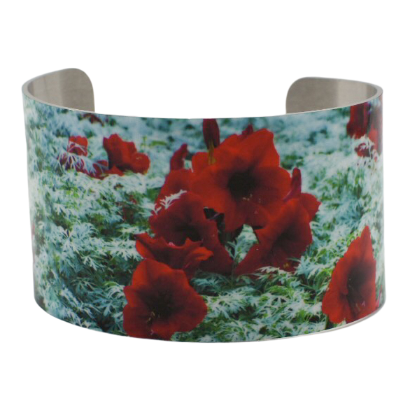 Bursting Amaryllis Cuff Bracelet