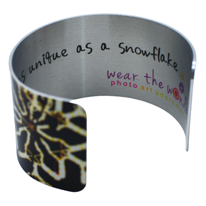Snowflake Illuminated Wide Cuff Bracelet - Wear the Wonder