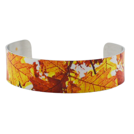 Leaves Aglow Cuff Bracelet