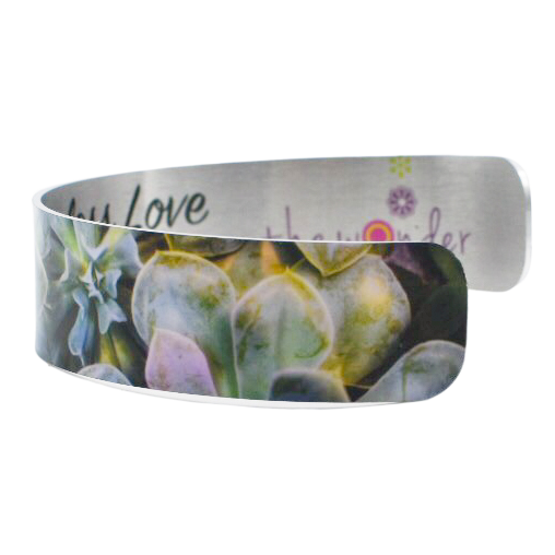 Enchanted Succulent Narrow Cuff Bracelet - Wear the Wonder