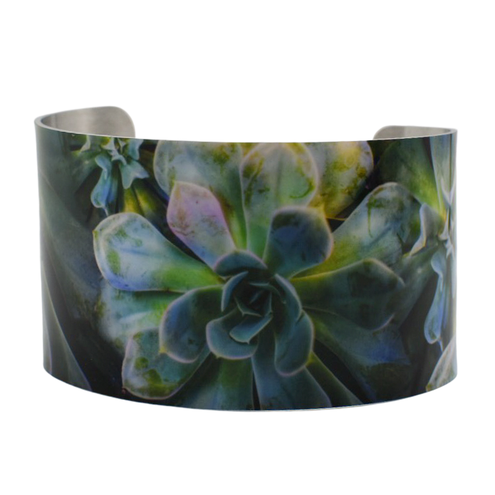 Enchanted Succulent Wide Cuff Bracelet - Wear the Wonder