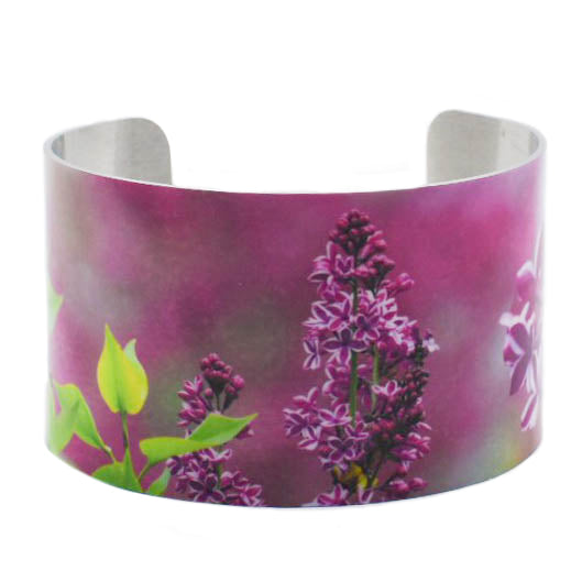 Lilac Blossoms Blooming Cuff Bracelet