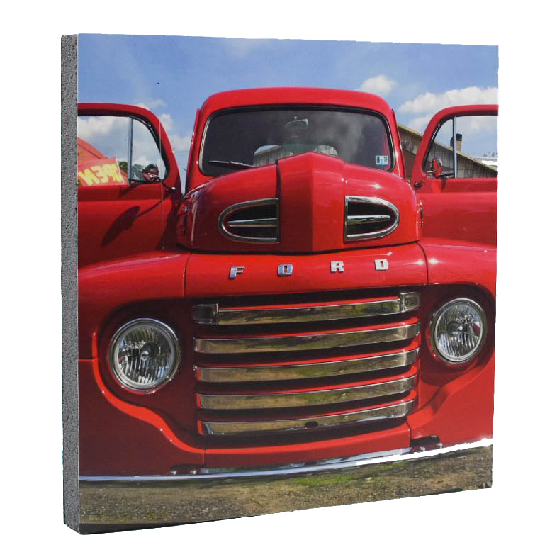 Shiny Red Ford Art Print - Wear the Wonder