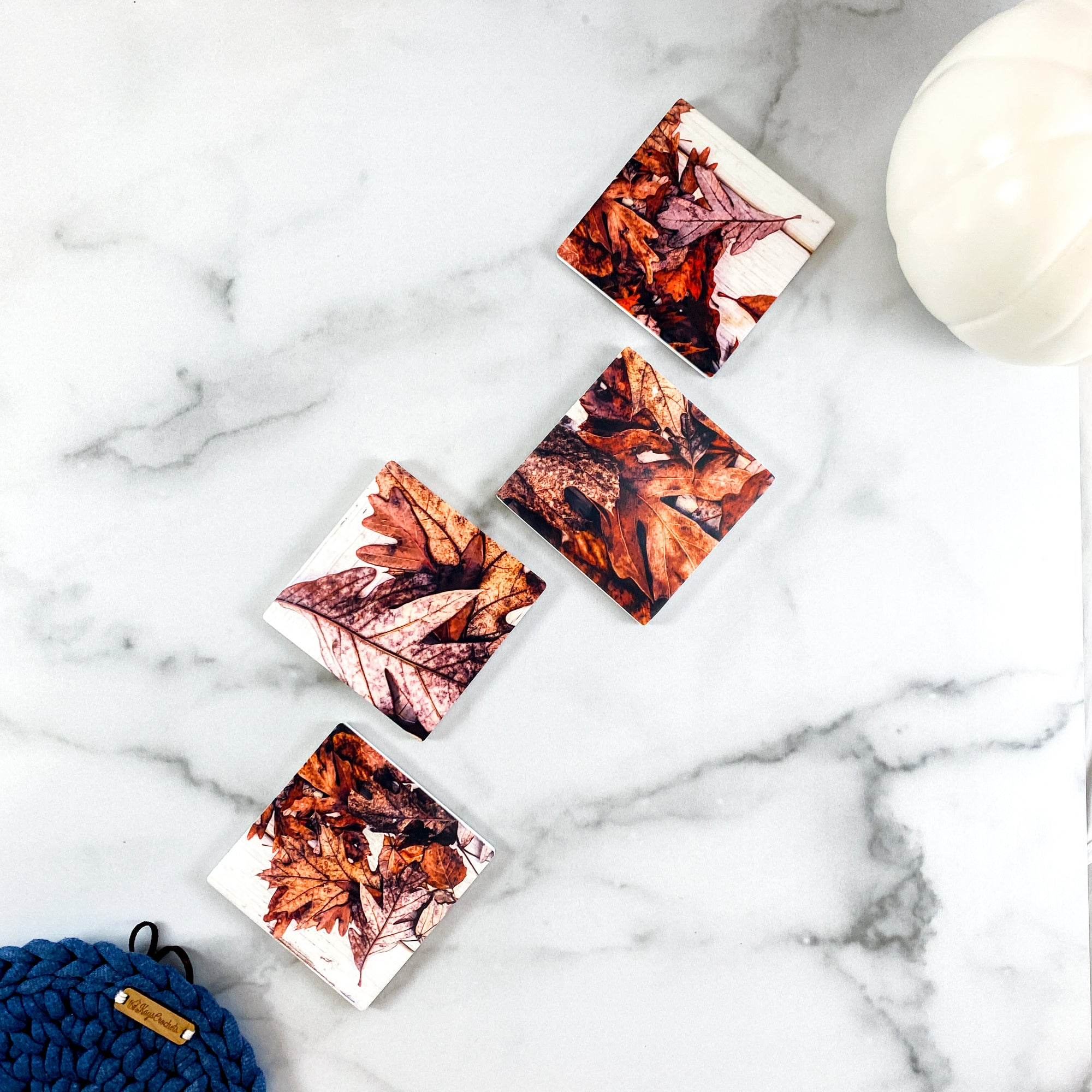 Standard view of Leaf Collage Coasters | Wear the Wonder
