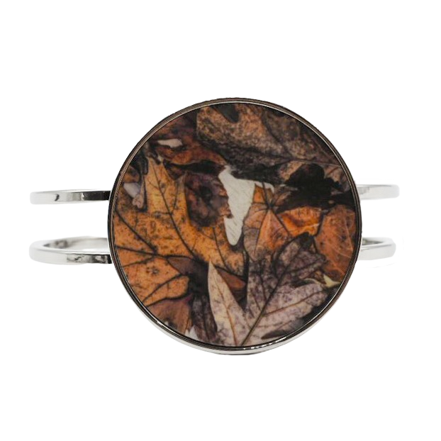 Leaf Collage Statement Bracelet - Wear the Wonder