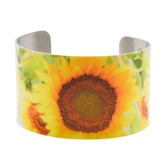 Happy Happy Happy Sunflower Cuff Bracelet