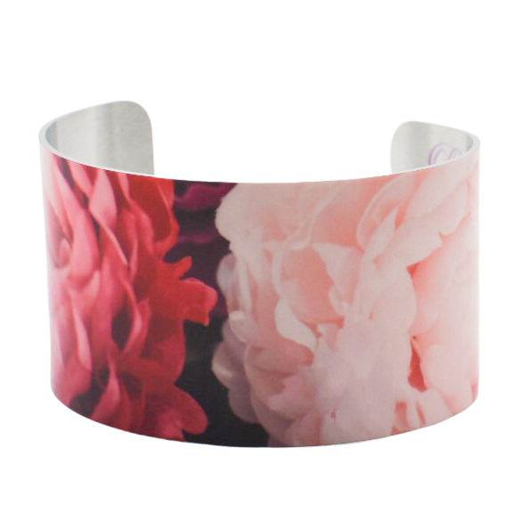 Oh Pretty Peonies Cuff Bracelet - Wear the Wonder