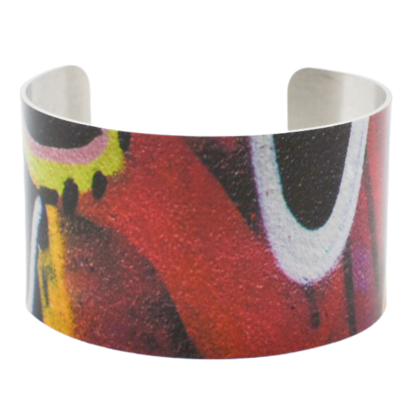 Red Eye Graffiti Cuff Bracelet