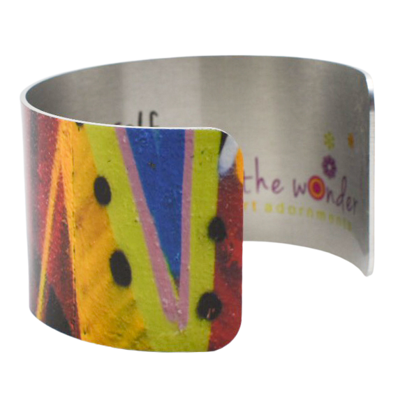 Red Eye Graffiti Cuff Bracelet - Wear the Wonder