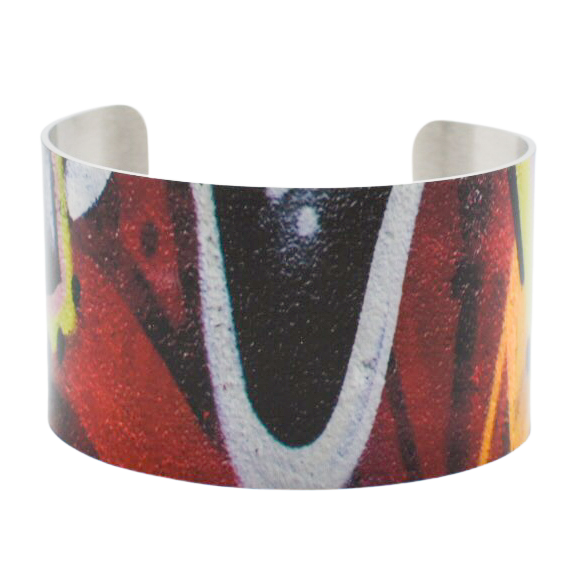 Red Multi Graffiti Cuff Bracelet