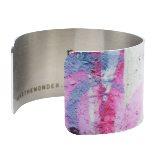 Mod Pink Graffiti Cuff Bracelet - Wear the Wonder