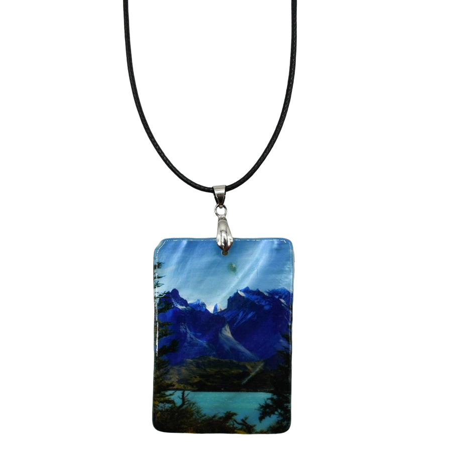 Towers of Azure Mother of Pearl Necklace