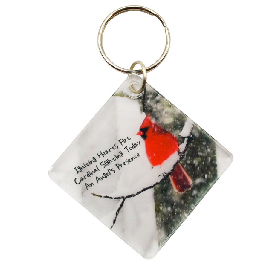 Angels Near Acrylic Diamond Keychain