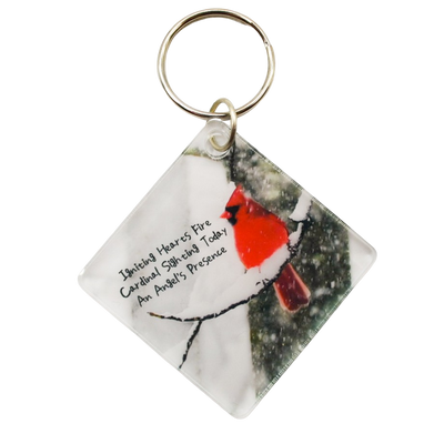 Angels Near Acrylic Diamond Keychain - Wear the Wonder