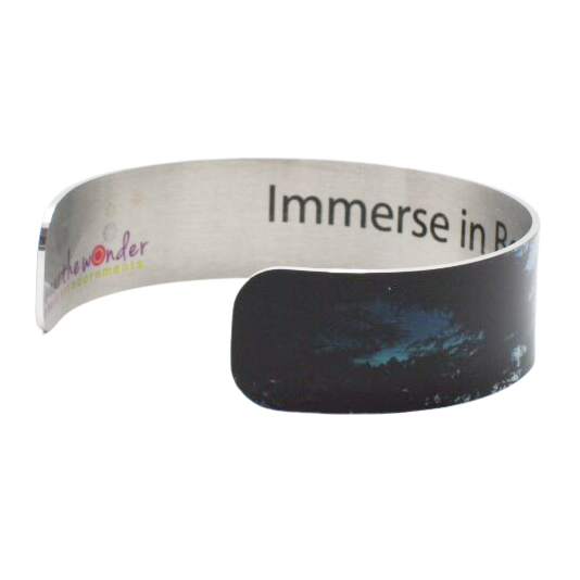 Blue Immersion Narrow Cuff Bracelet - Wear the Wonder