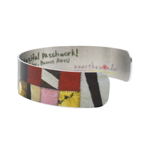 Patchwork Quilt Cuff Bracelet - Wear the Wonder