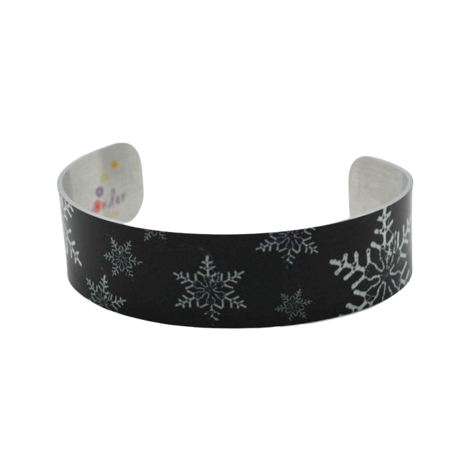 Snowflake Illuminated Narrow Cuff Bracelet - Wear the Wonder