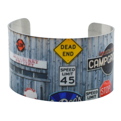 Travel Messages Cuff Bracelet