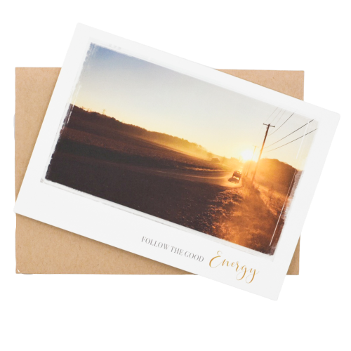 Follow the Good Energy Greeting Card - Wear the Wonder