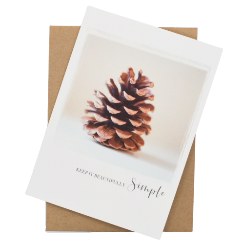 Keep it Beautifully Simple Greeting Card - Wear the Wonder